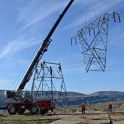 Big Eddy-Knight Transmission Line - steel lattice tower construction