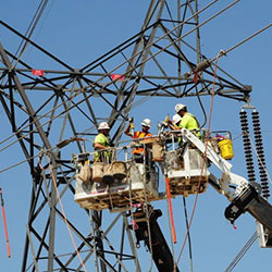 Central Ferry-Lower Monumental - transmission line construction