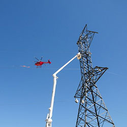 Central Ferry-Lower Monumental - transmission line construction, helicopter