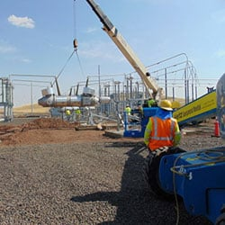 Substation construction