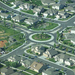 Creekstone Planned Development - roundabout, residential