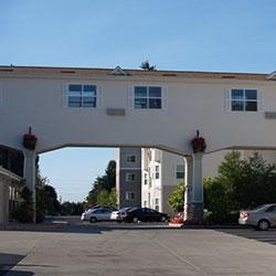 Glenwood Hills - elevated walkway, parking lot