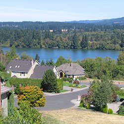 Lacamas Shores - streets and homes