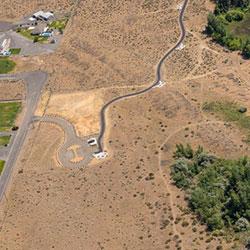 Priest Rapids Recreation Area Shoreline Trail - aerial, parking, trailhead