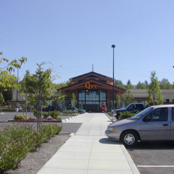 Riverstone Market Place - walkway and parking