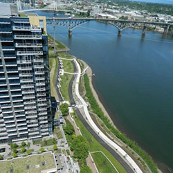 South Waterfront Greenway - overhead, path