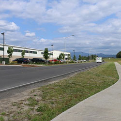 Steigerwald Commerce Center- street, sidewalk, building