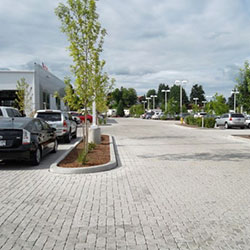 Vancouver Toyota - parking, pervious pavers