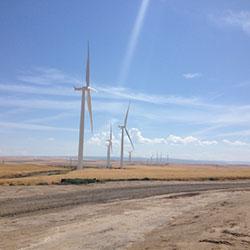 Tucannon River Wind Farm turbines - Renewable Power Generation