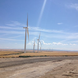 Tucannon River Wind Farm turbines - Renewable Power Generation