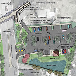 Yakima River Gateway - parking lot concept