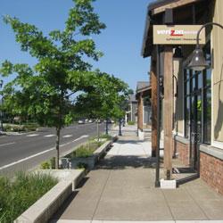 Boones Ferry Road - sidewalk, pedestrian friendly