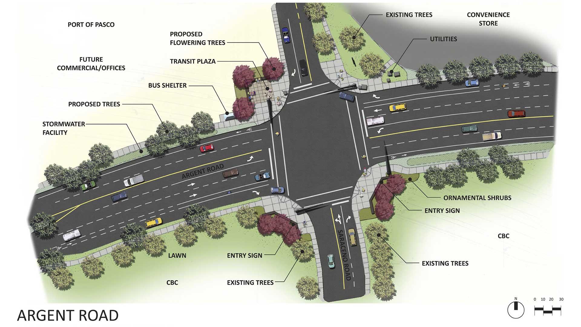 Argent Road - rendering