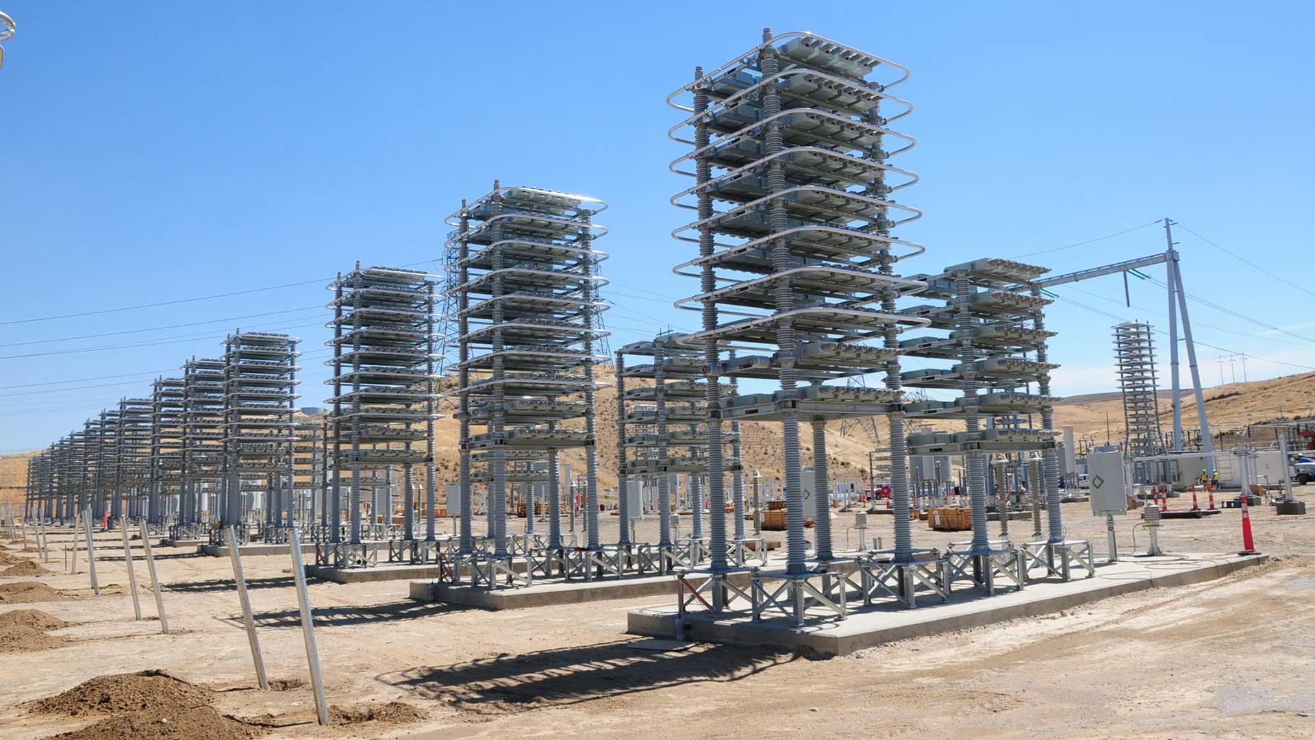 Celilo DC Converter Station - construction