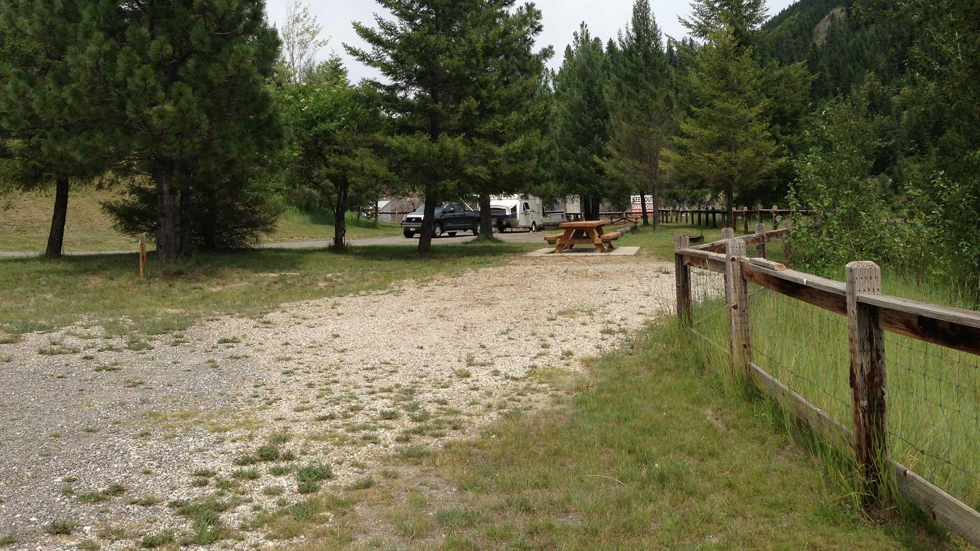Forebay Recreation Area - existing condition, campsite