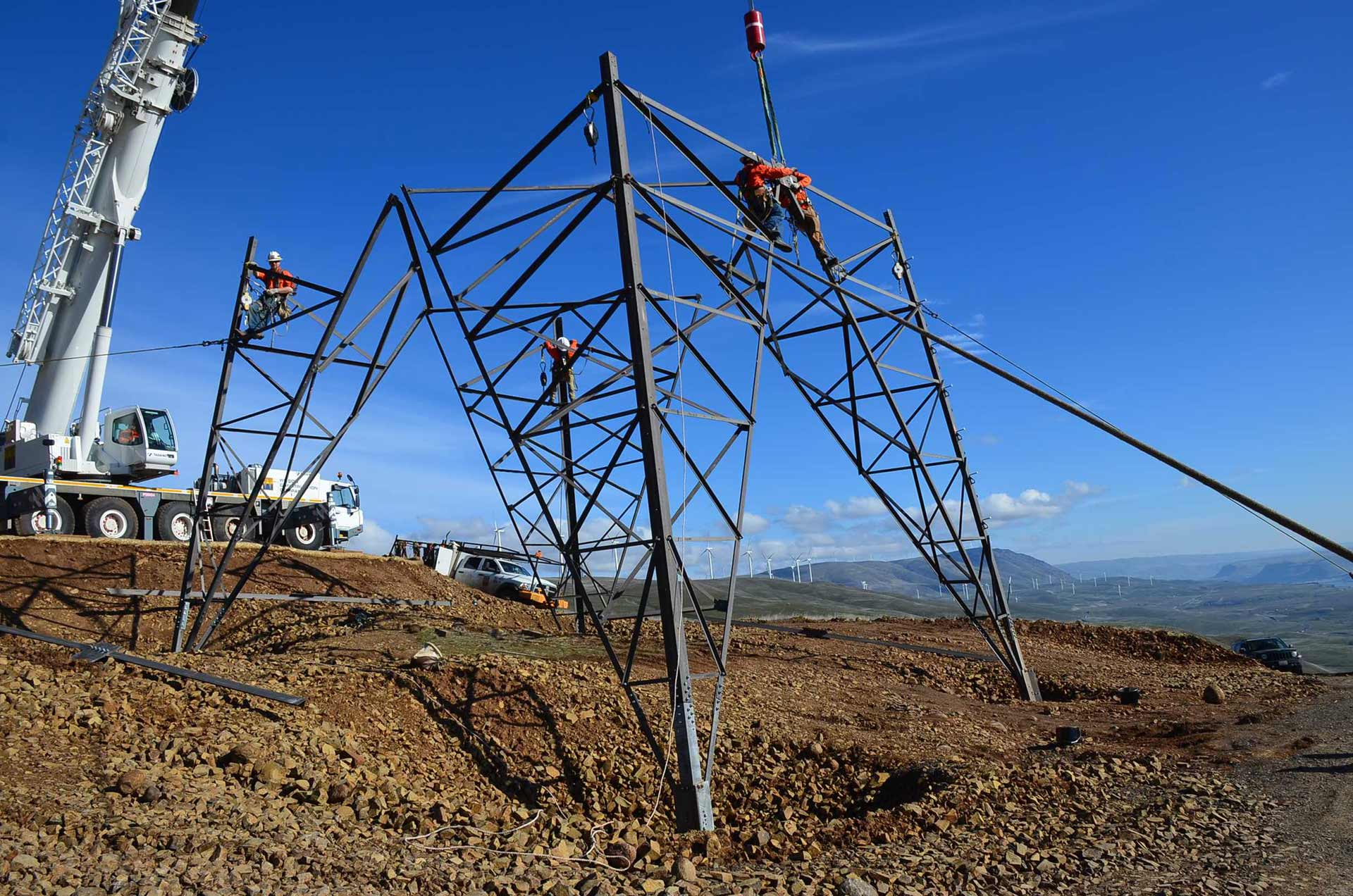 Transmission and Distribution - Steel Tower Construction