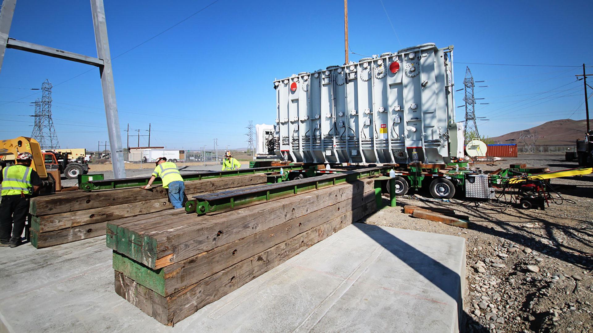 McNary UEC Substation - construction
