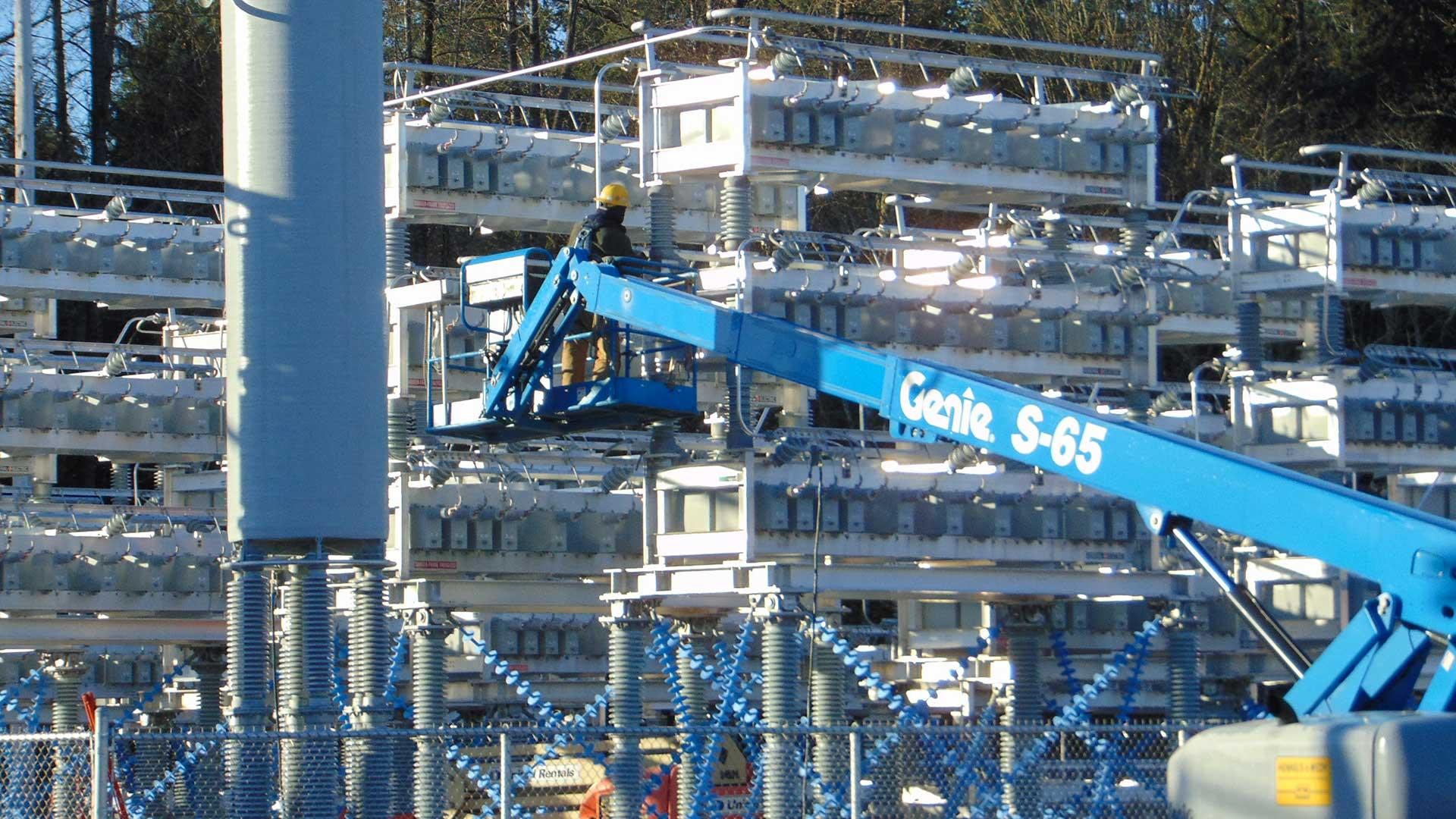 Monroe Substation - construction