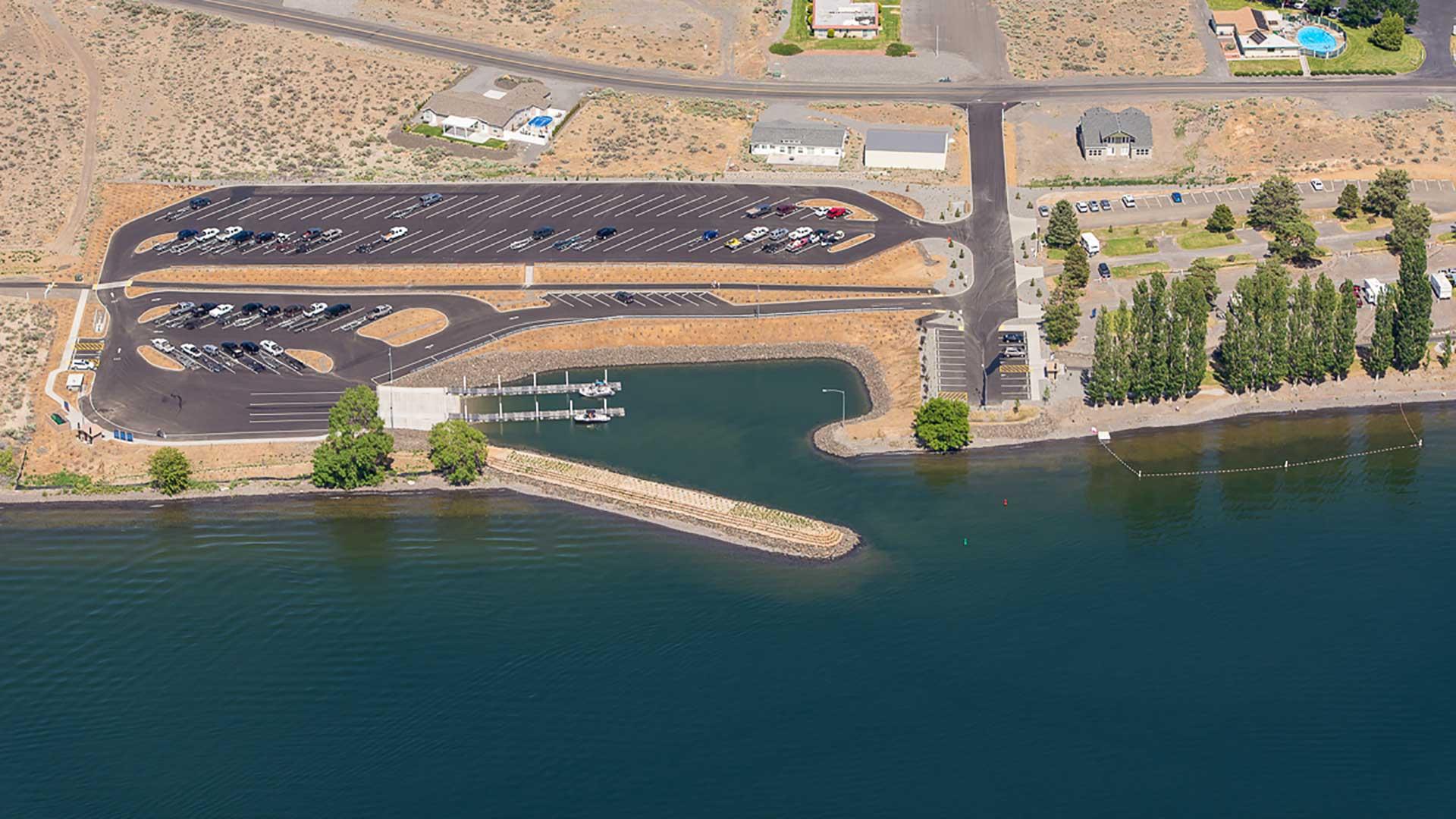 Priest Rapids Recreation Area - aerial photo