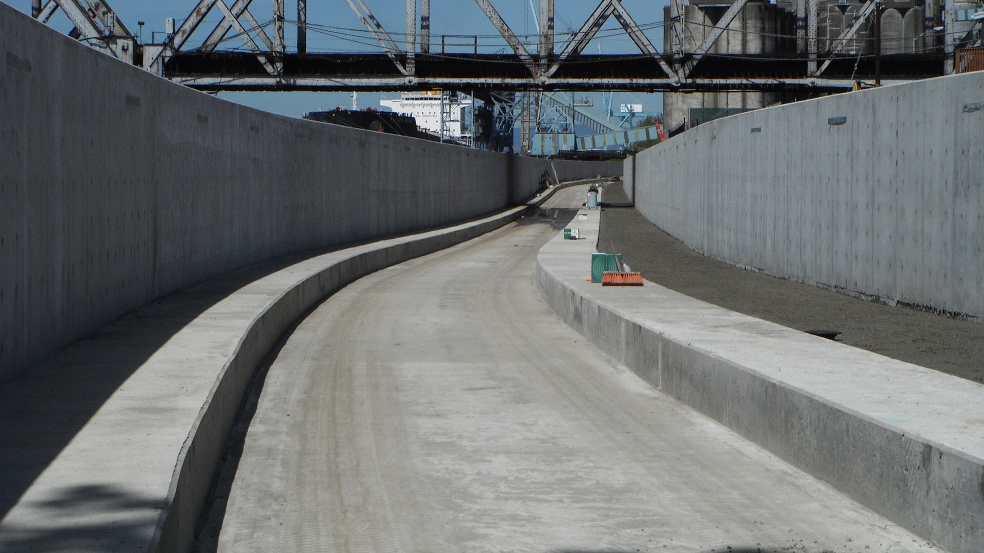 West Vancouver Freight Access Rail Trench - under construction