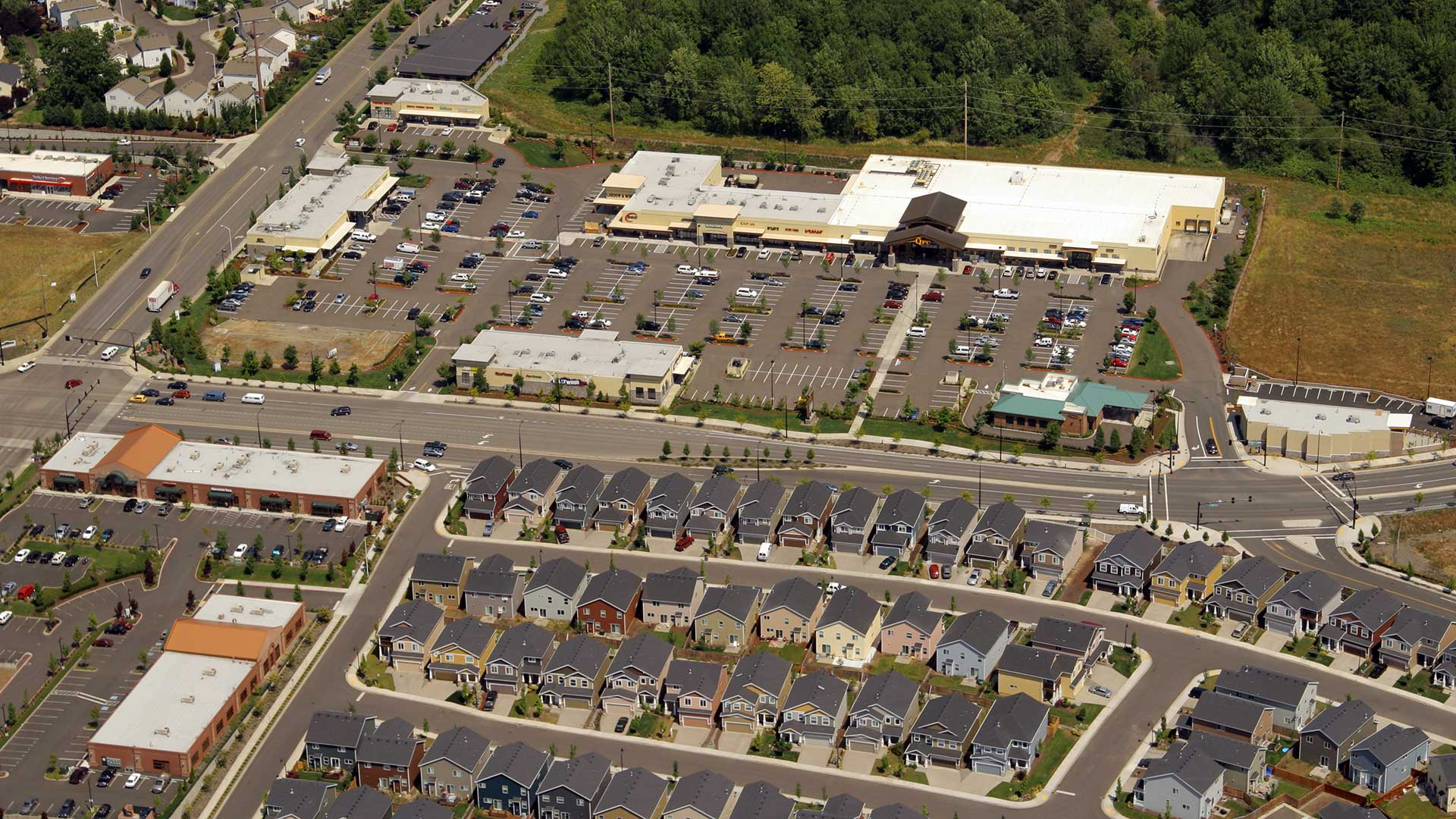 Riverstone Market Place - aerial