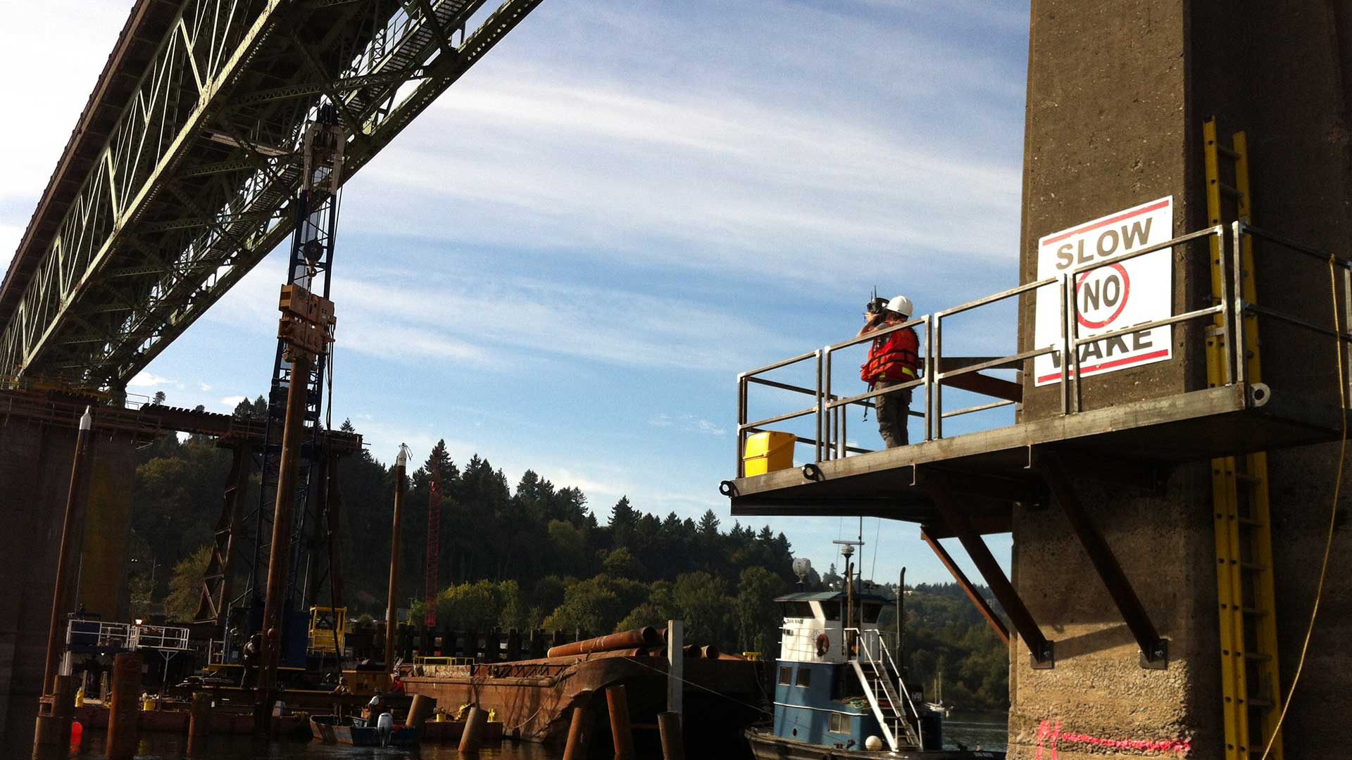 Sellwood Bridge - surveying