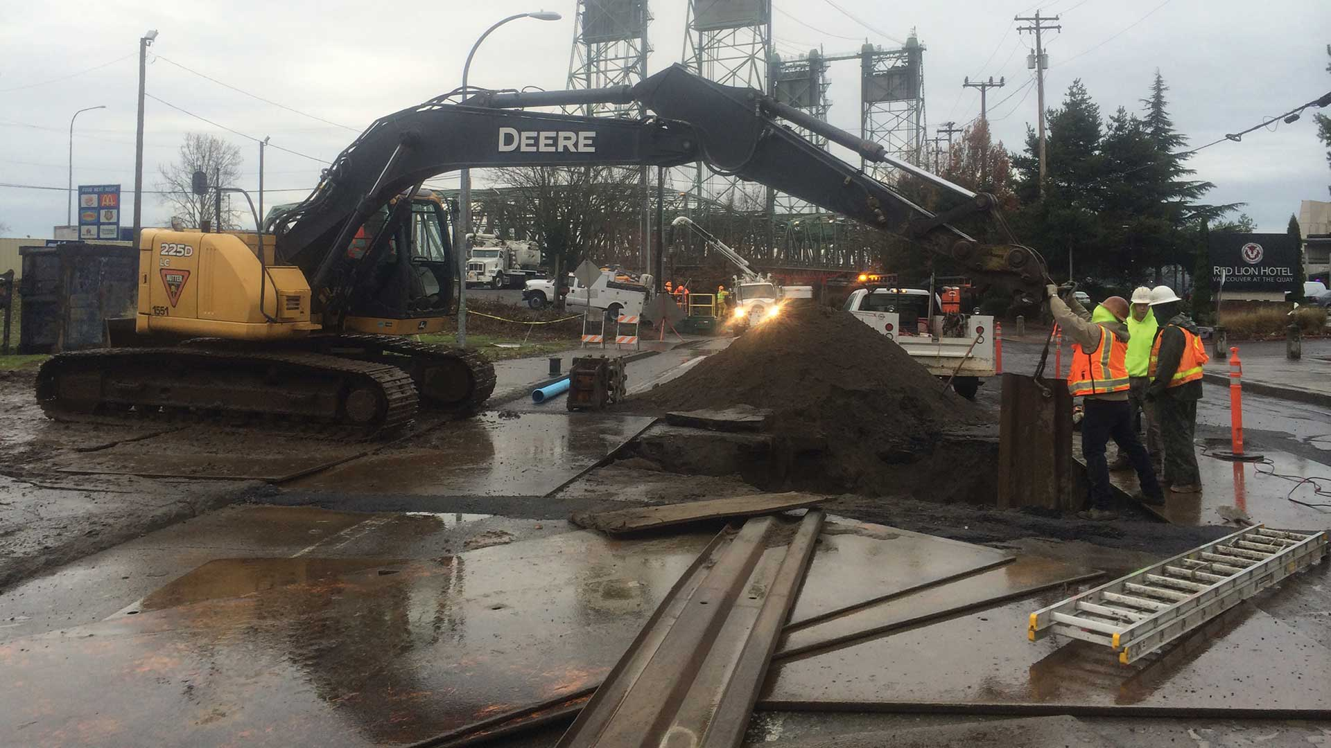 Port of Vancouver Waterfront Utility Improvements - construction