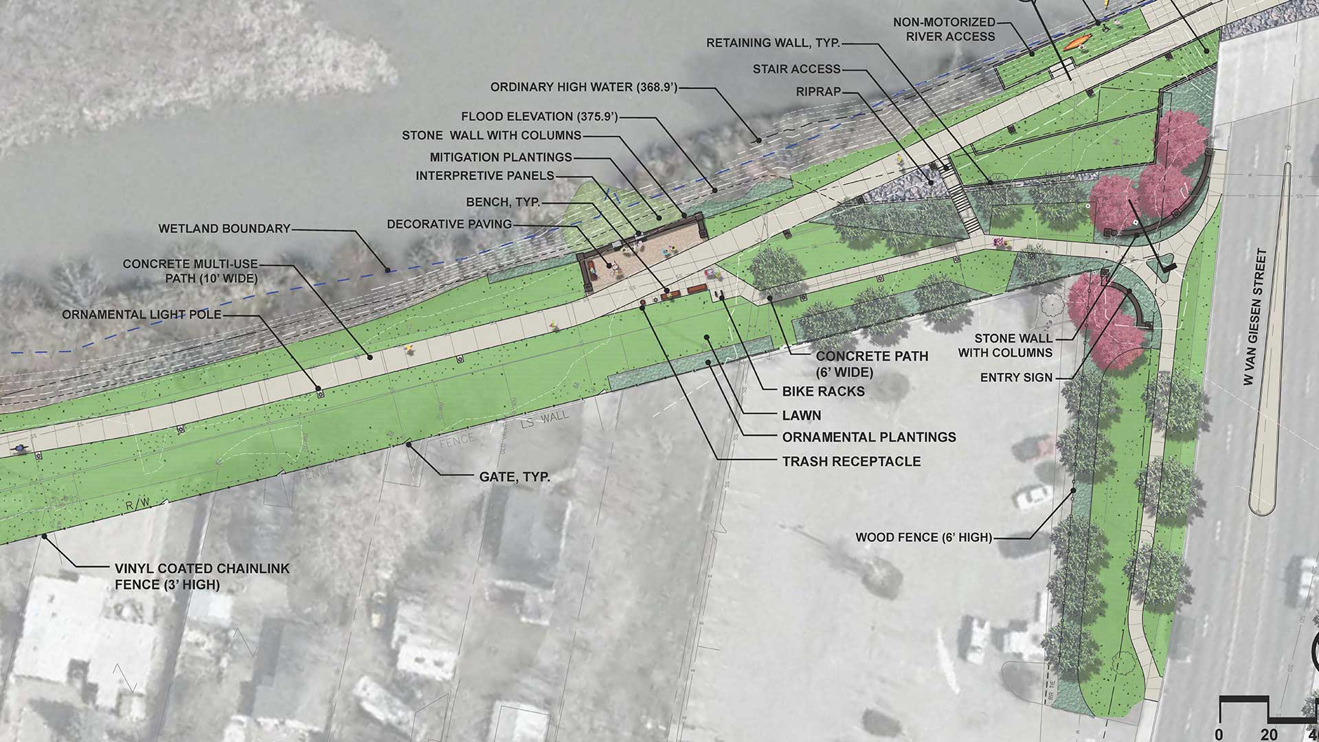 Yakima River Gateway - path concept